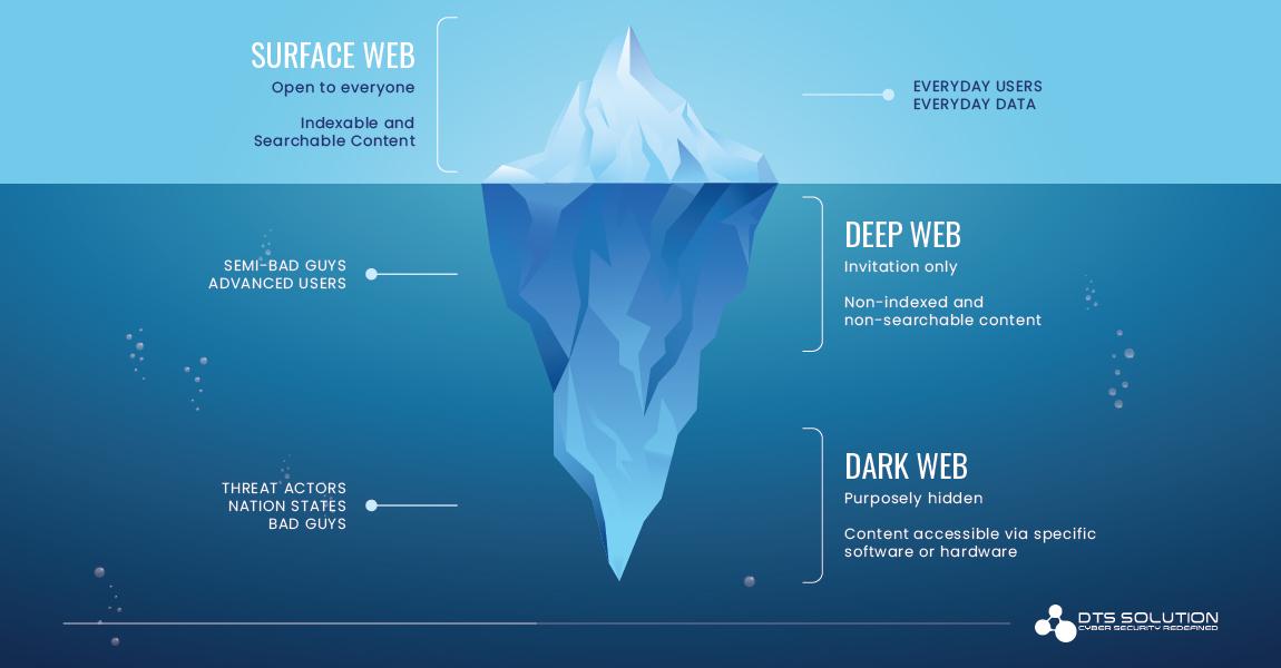 Surface, Deep and Dark Web